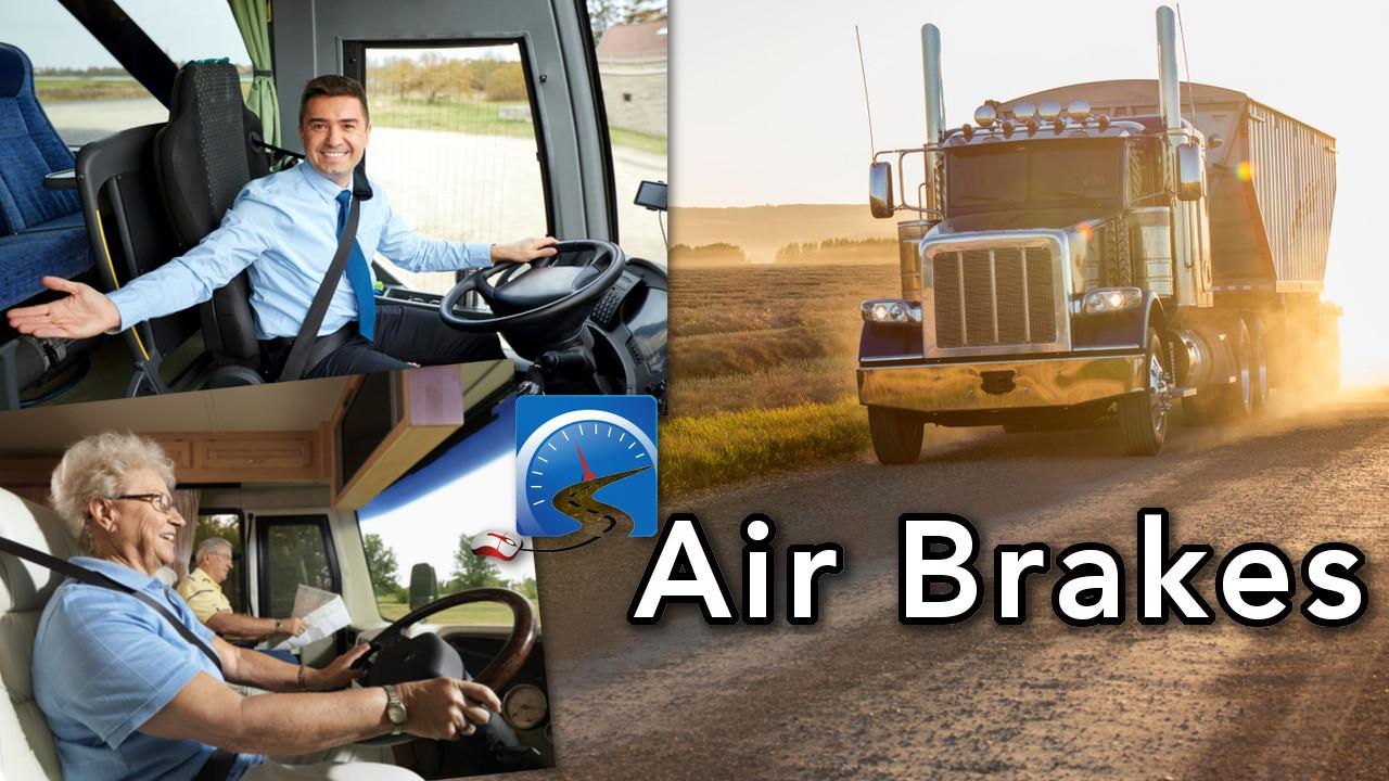CDL air brakes is the most challenging course. Sign up for this free training to pass your air brakes first time!