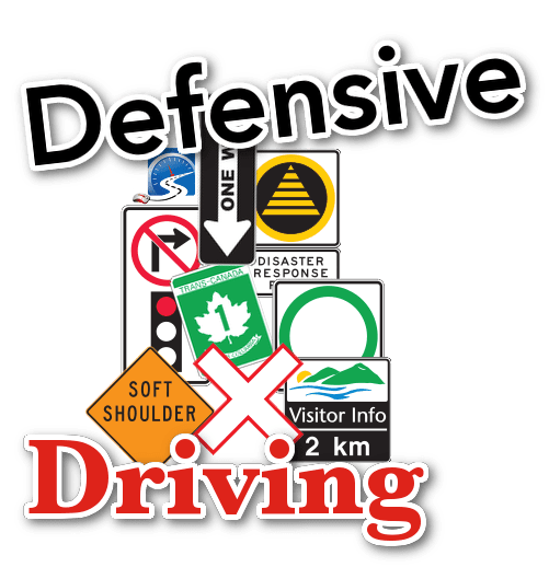 sign collage defensive driving