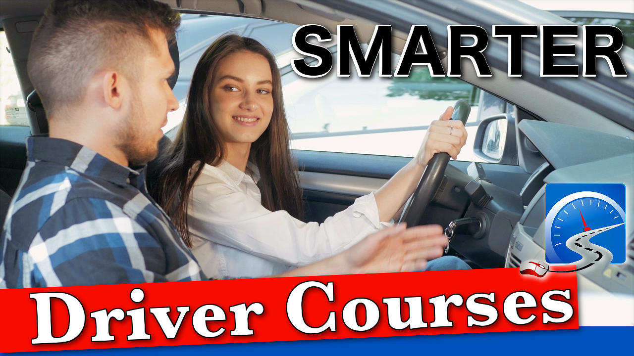 A young woman takes driving lessons in preparation to pass here driver's test.
