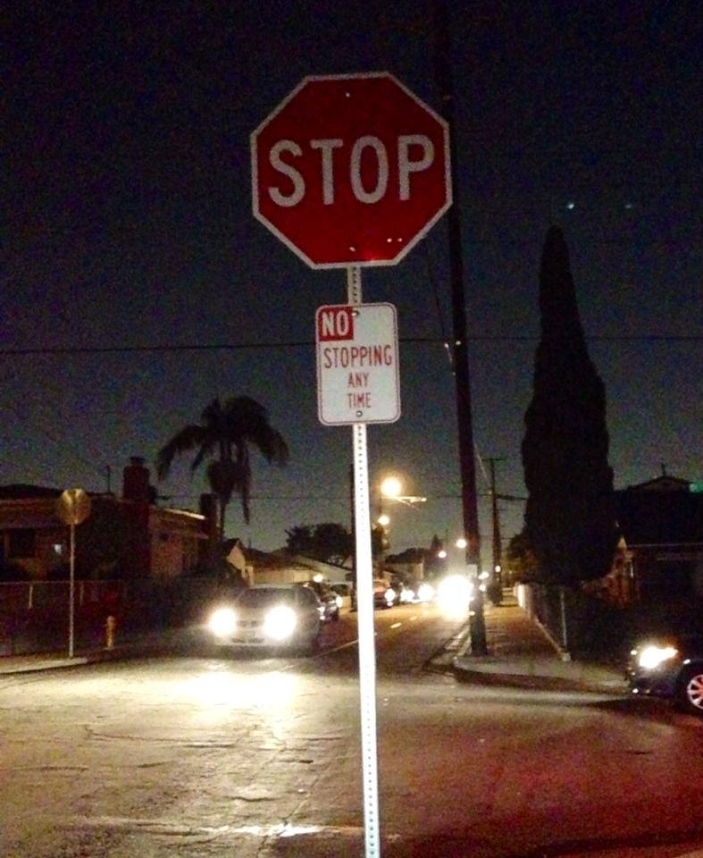 stop sign contradiction