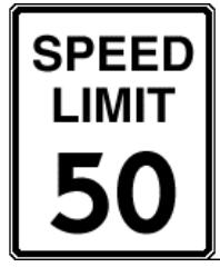 The maximum speed limit in the state of Massachusetts' is 50mph unless otherwise posted.