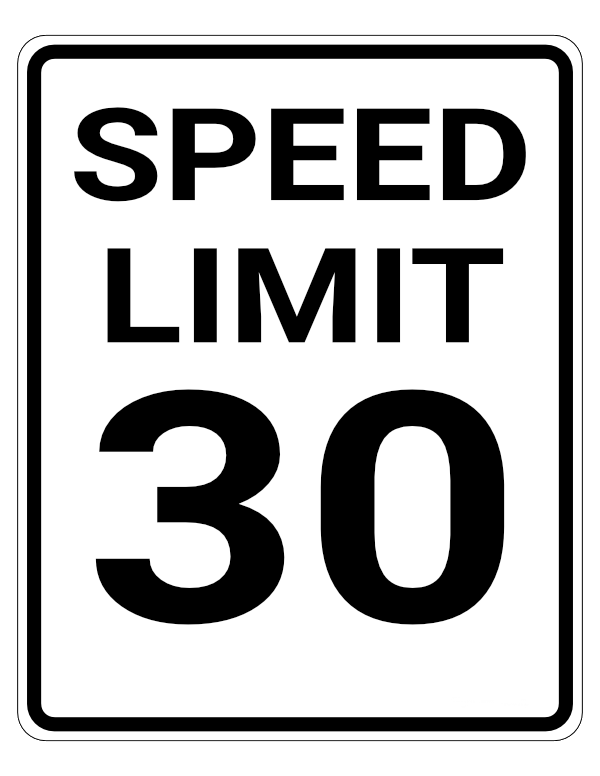 The speed limit in urban and residential areas in Georgia is 30mph unless otherwise posted.
