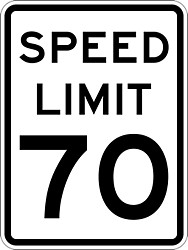 The maximum speed limit in the stat of Wyoming is 70mph unless otherwise posted.