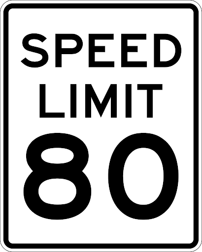 The maximum speed limit in the province of New Brunswick is 80kph unless otherwise posted.