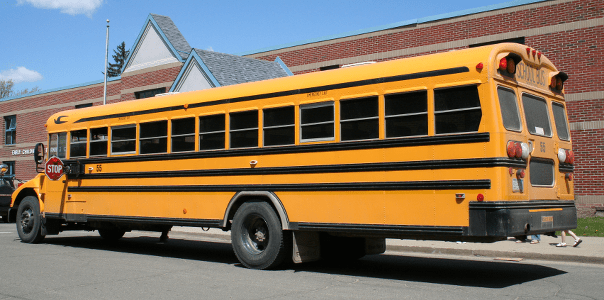 Most school buses require a Class 2 license with air brakes.