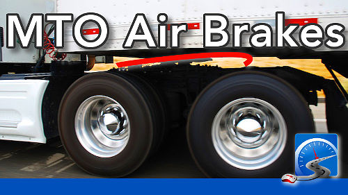 Pass the MTO Air Brakes Test in Ontario with these multiple choice practice questions that GUARANTEE that you PASS.