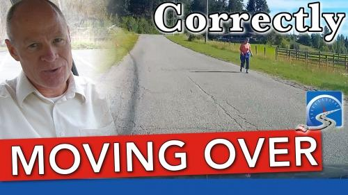 When moving around another road user or fixed object on the roadway, you must signal into the other lane and back again.