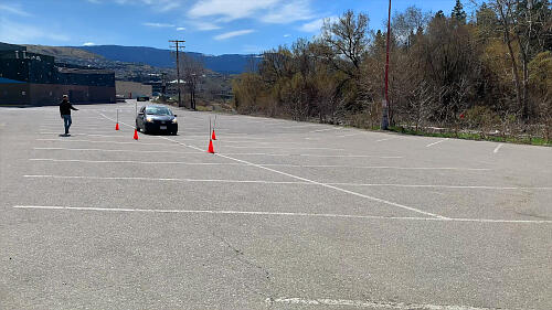When practicing the Ohio manoeuvrability test, hitting a cone is not a bad thing.