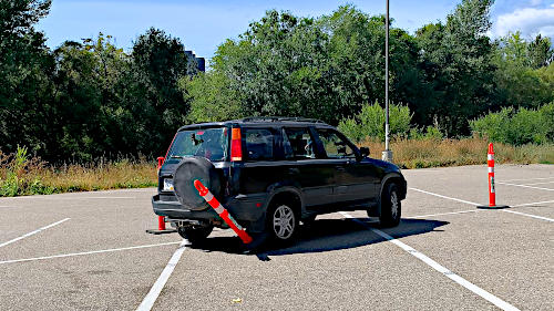 Hitting a cone when practicing the Ohio manoeuvrability test is part of the learning.