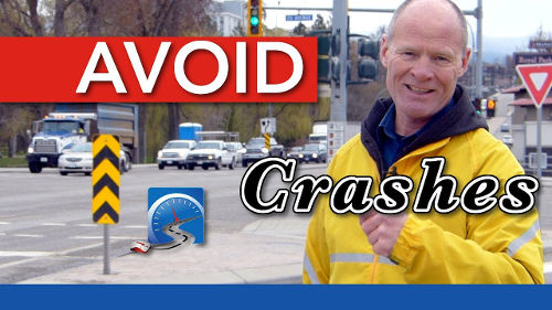 Hazard obstruction signs warn of fixed objects along the roadway and tell you which side on which to pass.