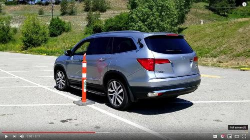 Backing along the tall pylons in the parking lot will both teach the new driver about the blind areas around the vehicle and mastery of the primary controls.