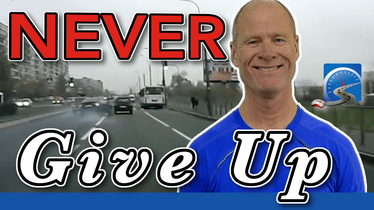 In many impeding crashes, drivers give up. NEVER give up looking for an out in an emergency!