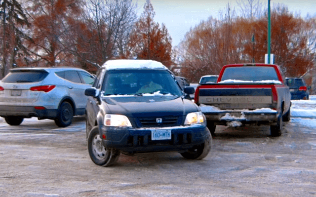 Parking beside another vehicle is always easier than an empty space.