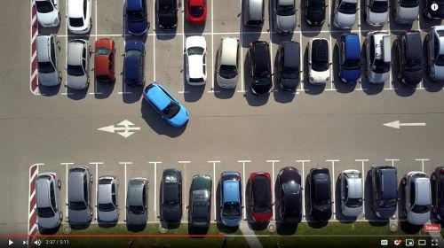 When learning to reverse and getting started with your parking, DON'T start in a busy parking lot.