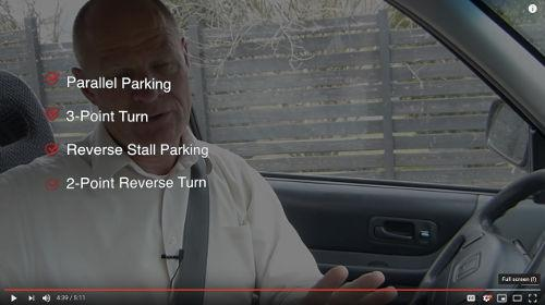 By spending time learning to reverse, you other parking manoeuvres for a road test will be much, much easier.