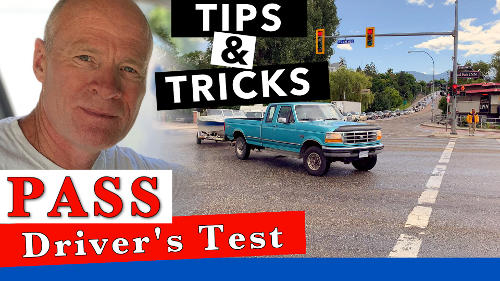 When you show up for your driver's test, back into the parking space to start your driver's test easy. Watch the full video for more tips.