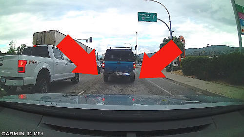 Stop in traffic so that you can see the tires of the vehicle in front making clear contact with the road surface.