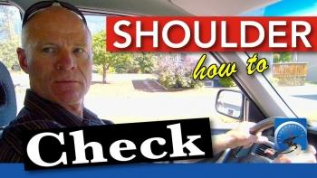 When both learning to drive and be a smarter driver, shoulder (head) check 2Xs every time you turn the vehicle vehicle or move it sideways.
