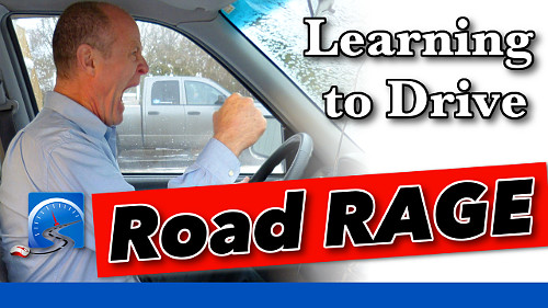 Unfortunately, aggressive drivers are part of learning to drive in preparation to pass your driver's test.